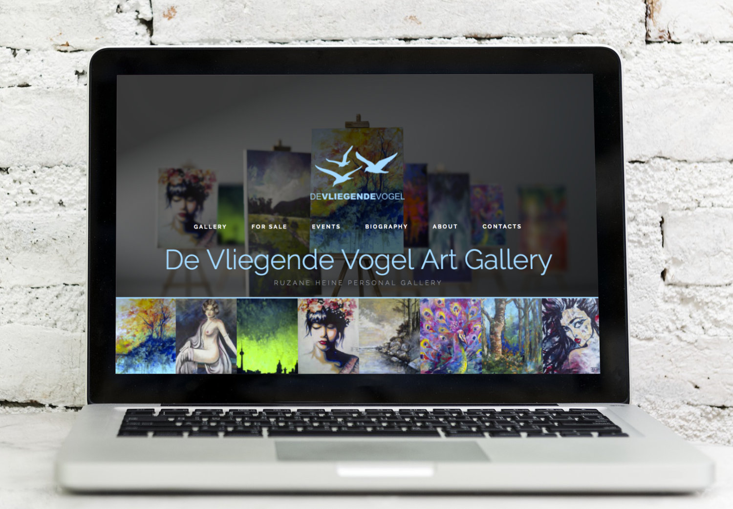 Website - De Vliegende Vogel Art Gallery